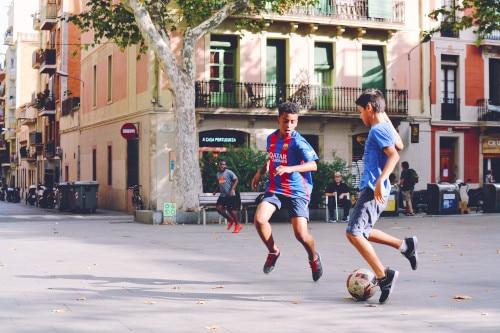 Jungs Wettkampf Fußball